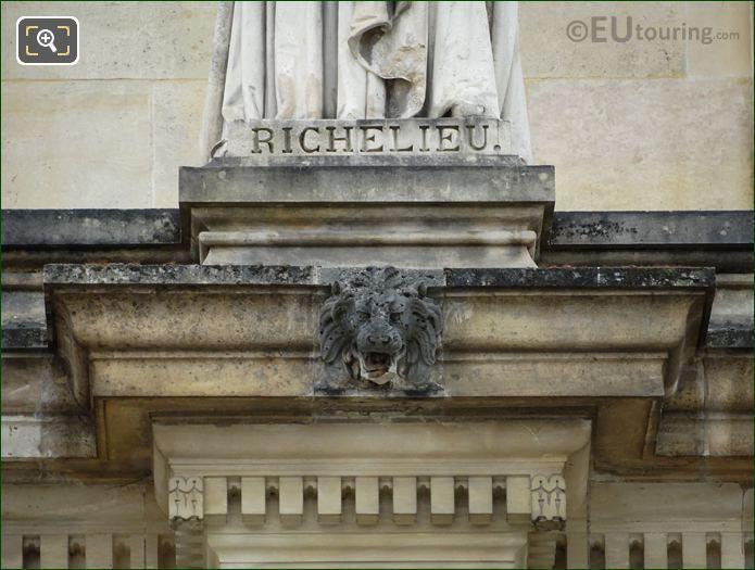 Inscription On Cardinal Richelieu Statue
