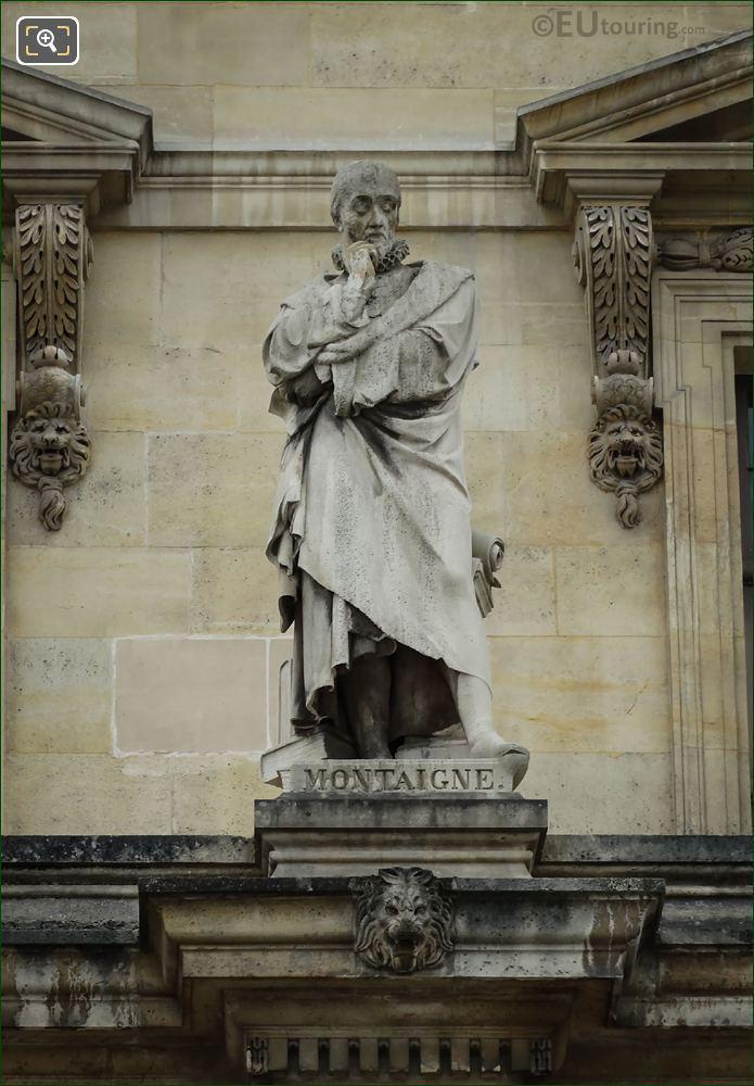 Michel Eyquem De Montaigne Statue On Aile Daru