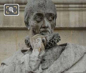 Michel Montaigne Statue By Jean Francois Soitoux