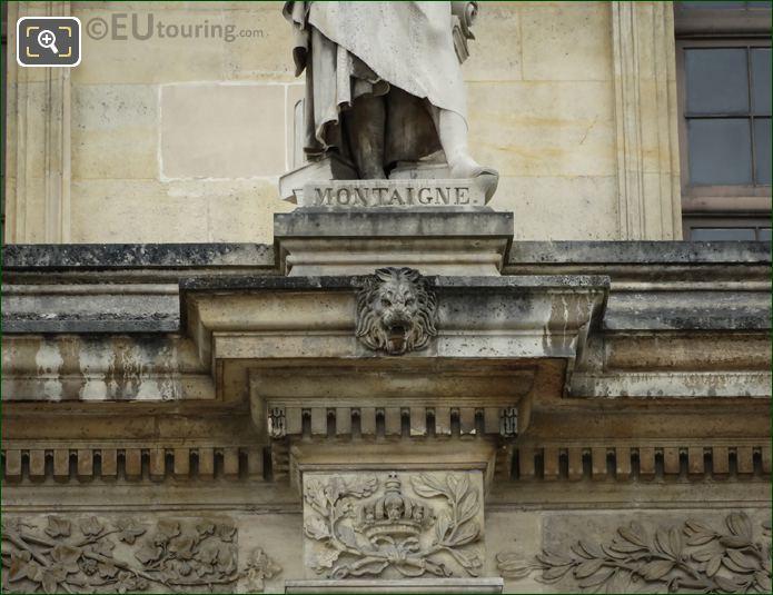 Name Inscription On Michel Eyquem De Montaigne Statue