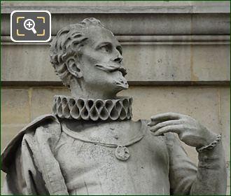 Etienne Duperac Statue By Jacques Ange Cordier