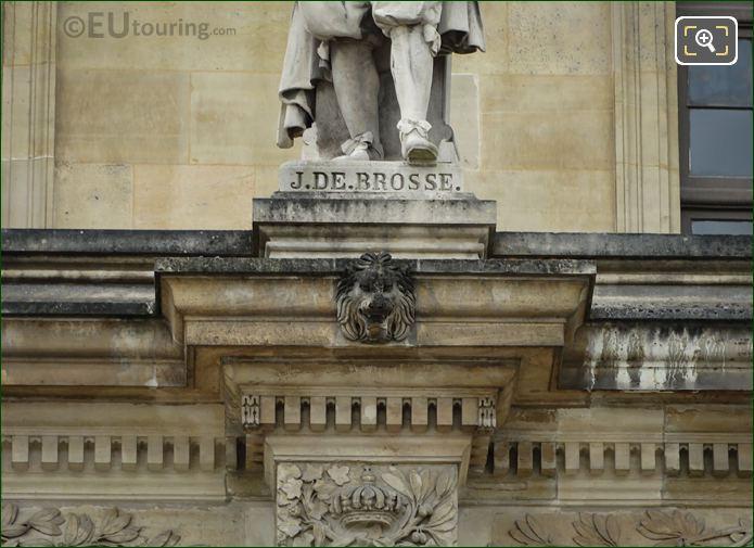 Jean De Brosse Statue Inscription