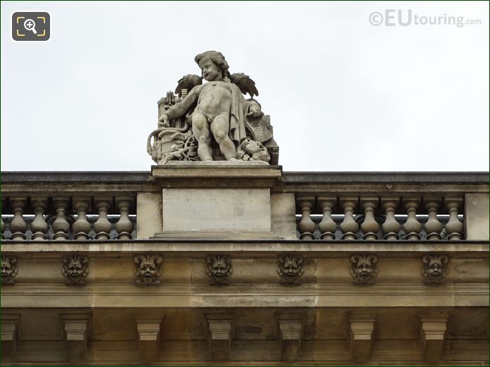 La Vapeur Statue On North Facade Of Aile Daru At Musee Du Louvre