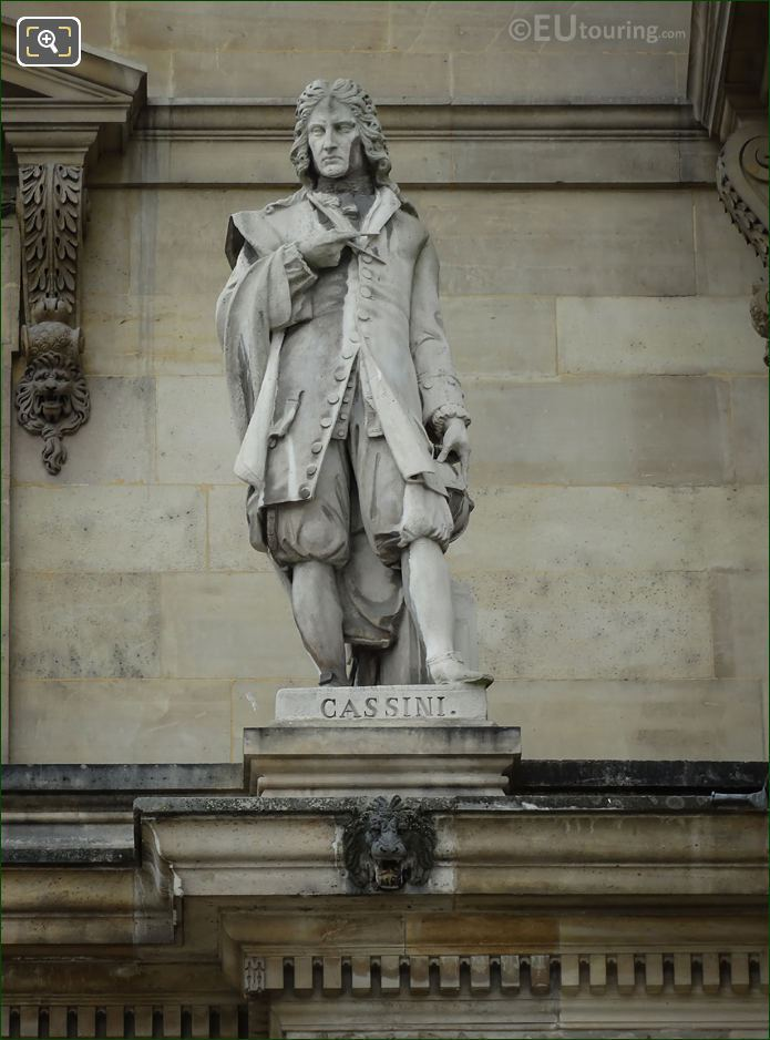 Cassini Statue At Musee Louvre By E Maindron
