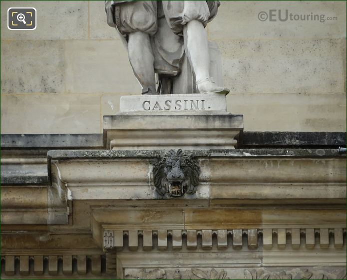 Inscription On C F Cassini Statue Paris