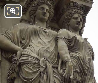 Caryatid Sculptures By Elias Robert Pavillon Denon