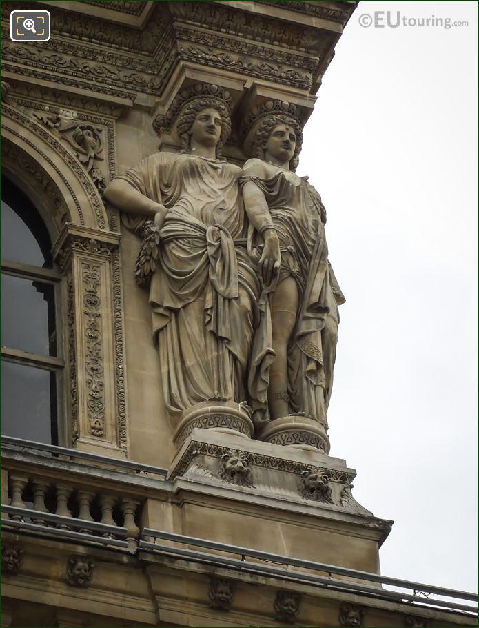 RHS Caryatid Sculptures Pavillon Denon Facade