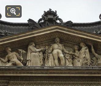 Napoleon III Entoure De La Paix Et Des Arts By Pierre Simart