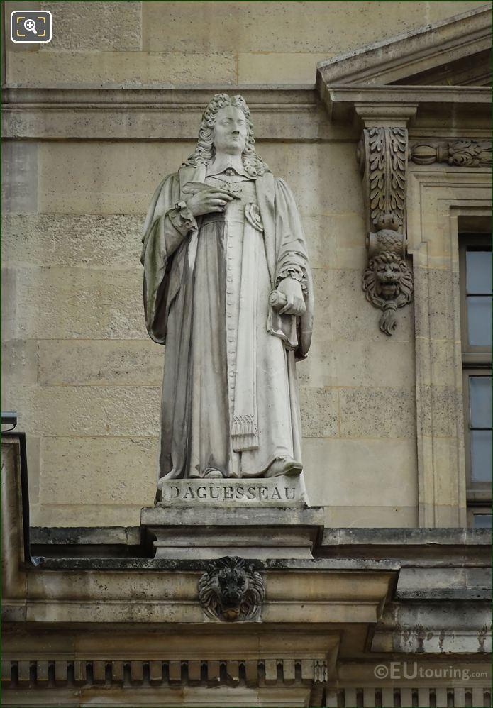 Henri Francois d Aguesseau Statue By Louis Caillouette