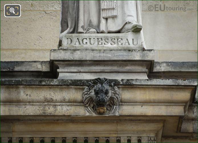 Inscription On Henri Francois d Aguesseau Statue