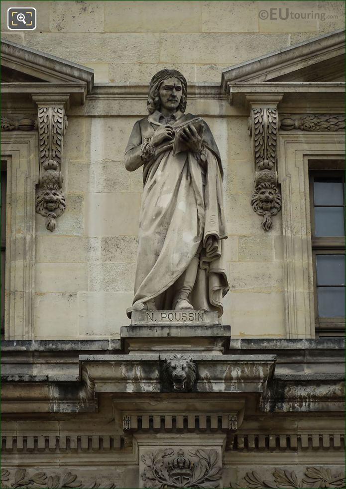 Nicolas Poussin Statue On Aile Mollien