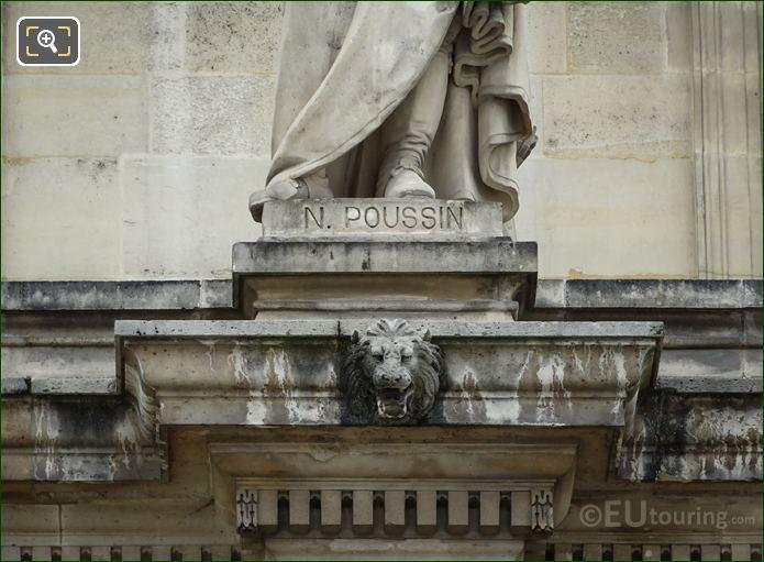 Name Inscription On Nicolas Poussin Statue