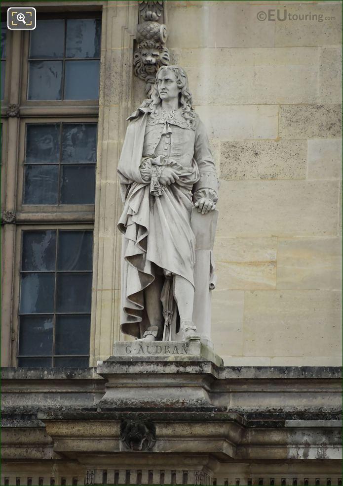 Gerard Audran Statue On Aile Mollien
