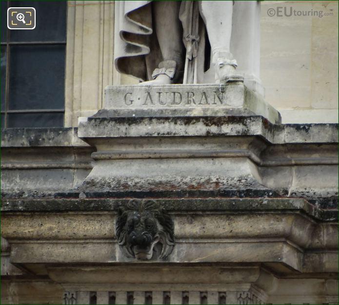 Name Inscription On Gerard Audran Statue