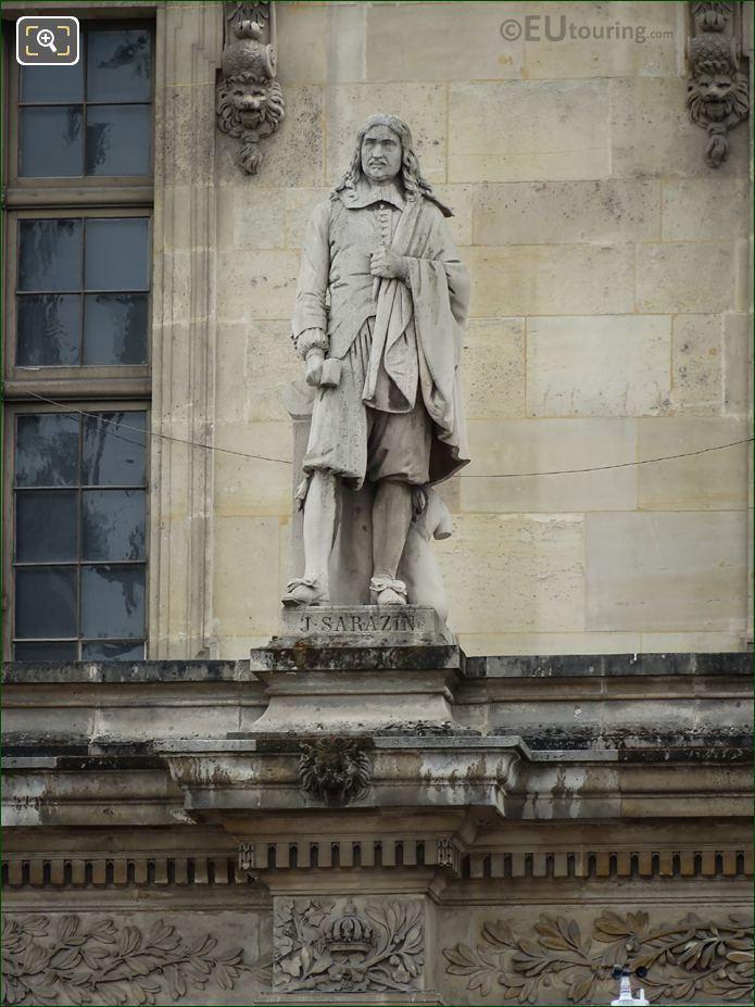 Jacques Sarazin Statue On Aile Mollien