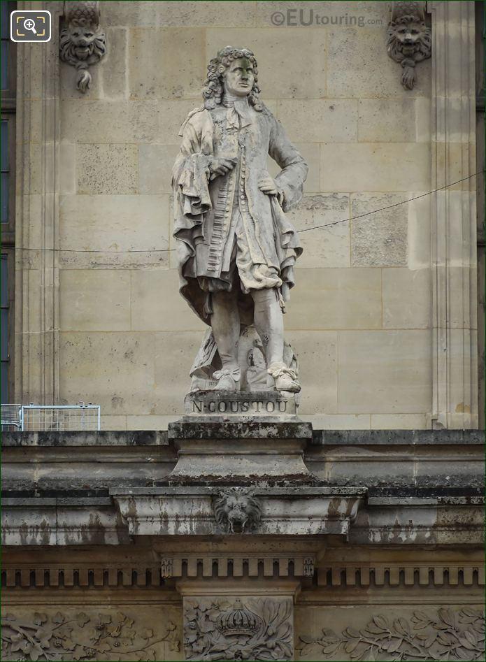 Nicolas Coustou Statue On Aile Mollien