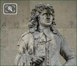 Nicolas Coustou Statue By Xavier-Marie-Auguste Courtet