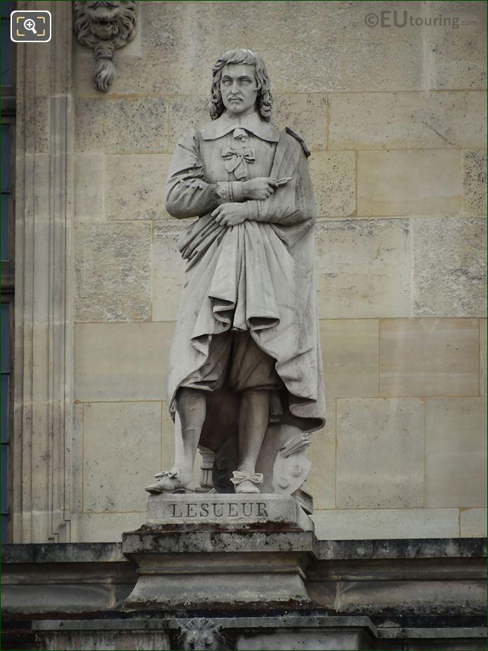 Eustache Lesueur Statue On Aile Mollien