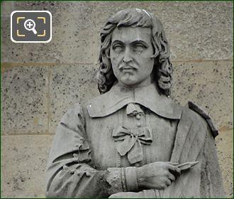 Eustache Lesueur Statue By Honore Jean Aristide Husson
