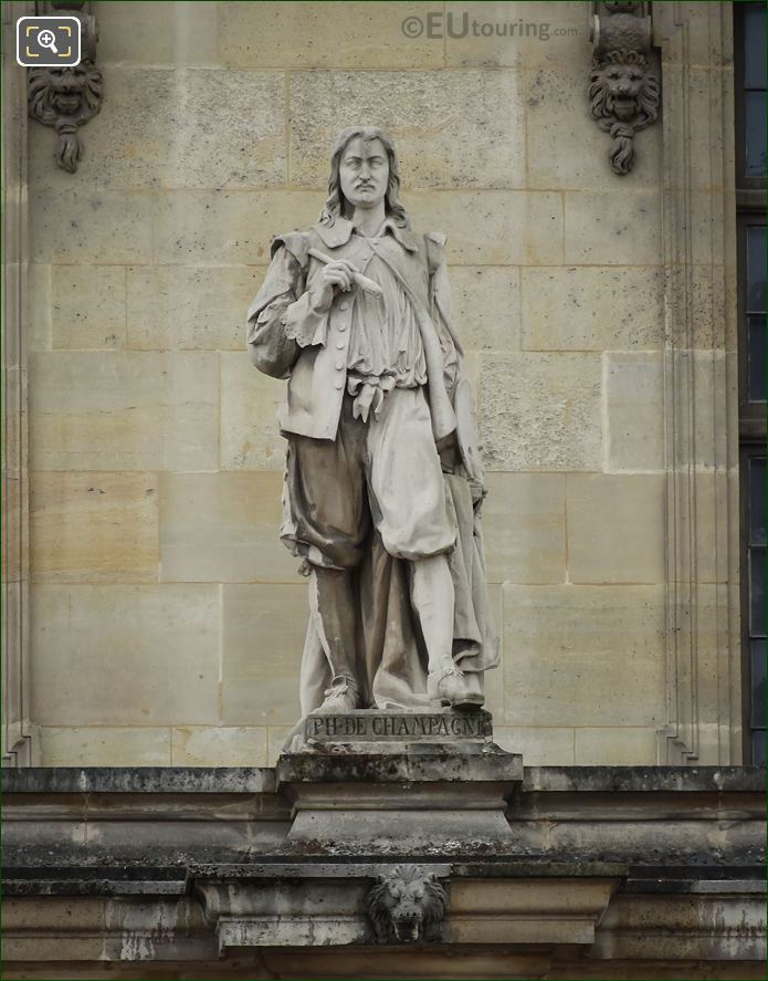 Philippe De Champagne Statue On Aile Mollien