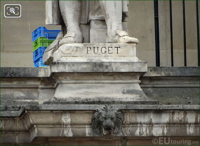 Name Inscription On Pierre Puget Statue