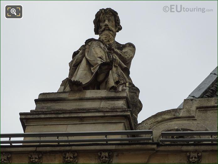 Le Calme Statue On Pavillon Turgot At Musee Louvre