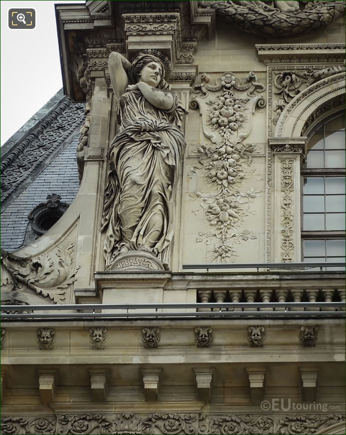 LHS Caryatid Sculpture West Facade Pavillon Turgot