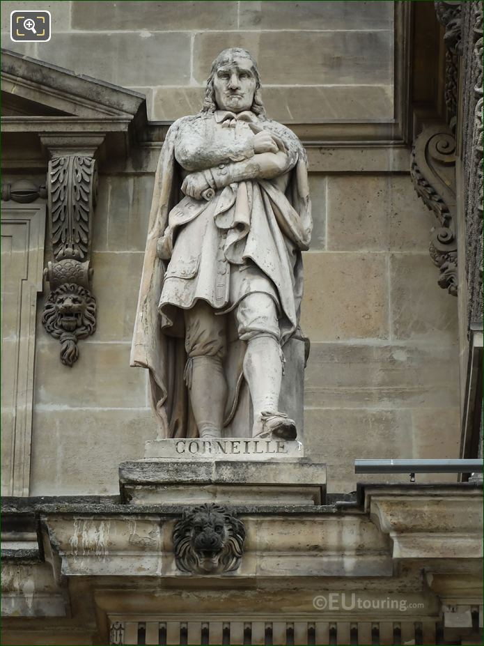 Pierre Corneille Statue On Aile En Retour Turgot