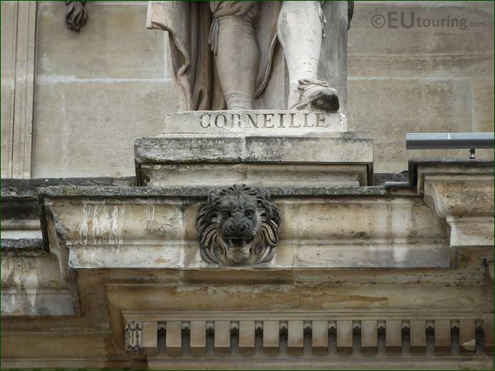 Name Inscription On Pierre Corneille Statue