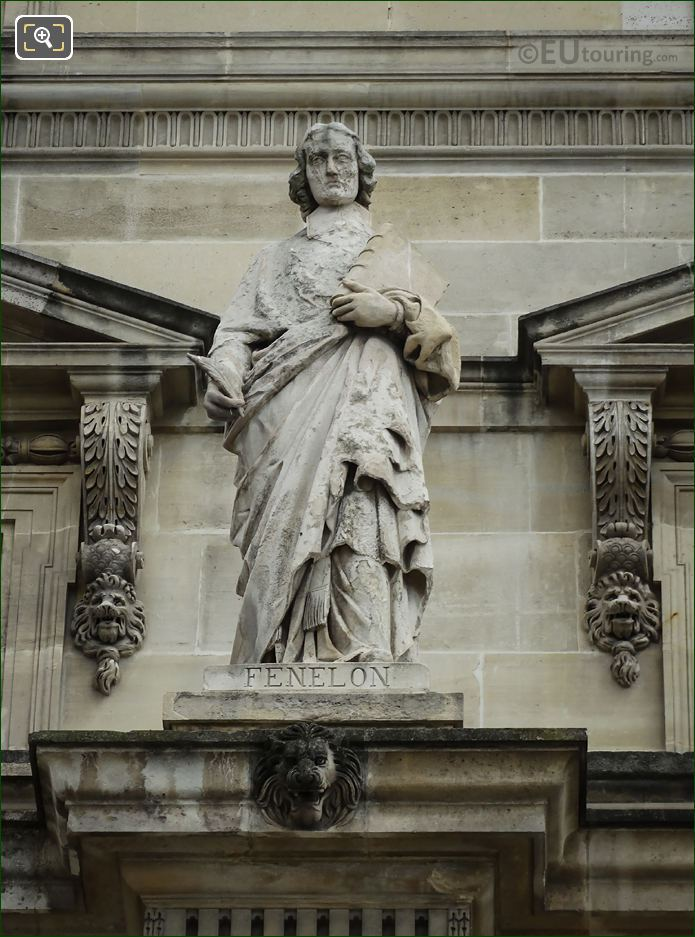 Francois Fenelon Statue By Jean Bonnassieux