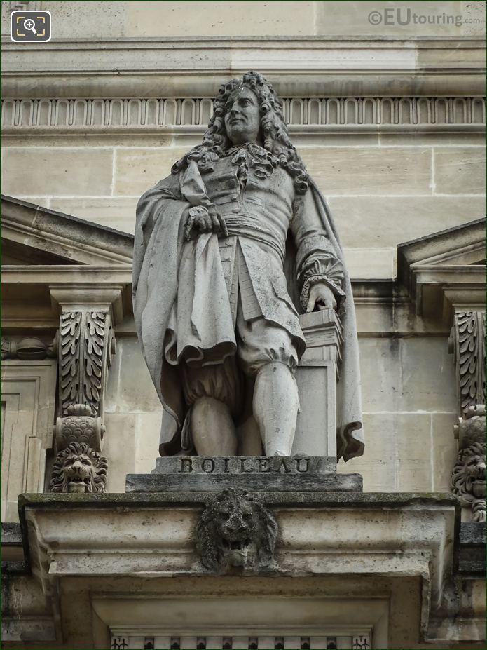Nicolas Boileau-Despreaux Statue By Charles Seurre