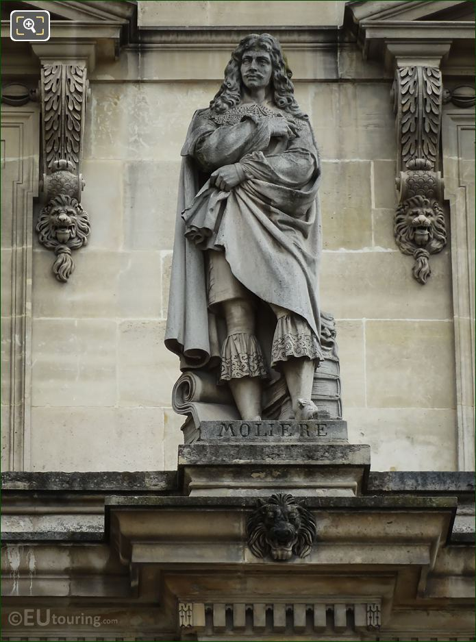 Moliere Statue By Seurre On Aile Retour Turgot