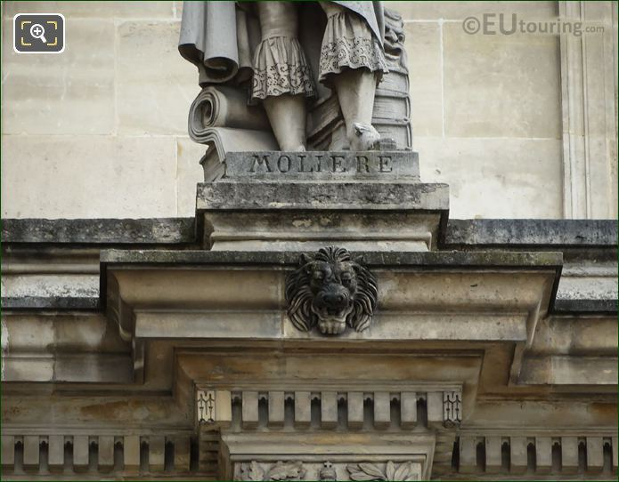 Inscription On Moliere Statue At The Louvre Paris