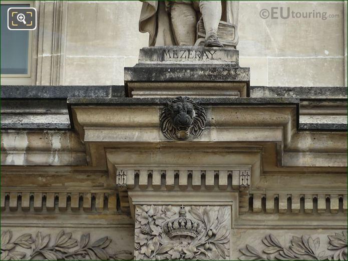 Inscription On Francois Mezeray Statue Paris