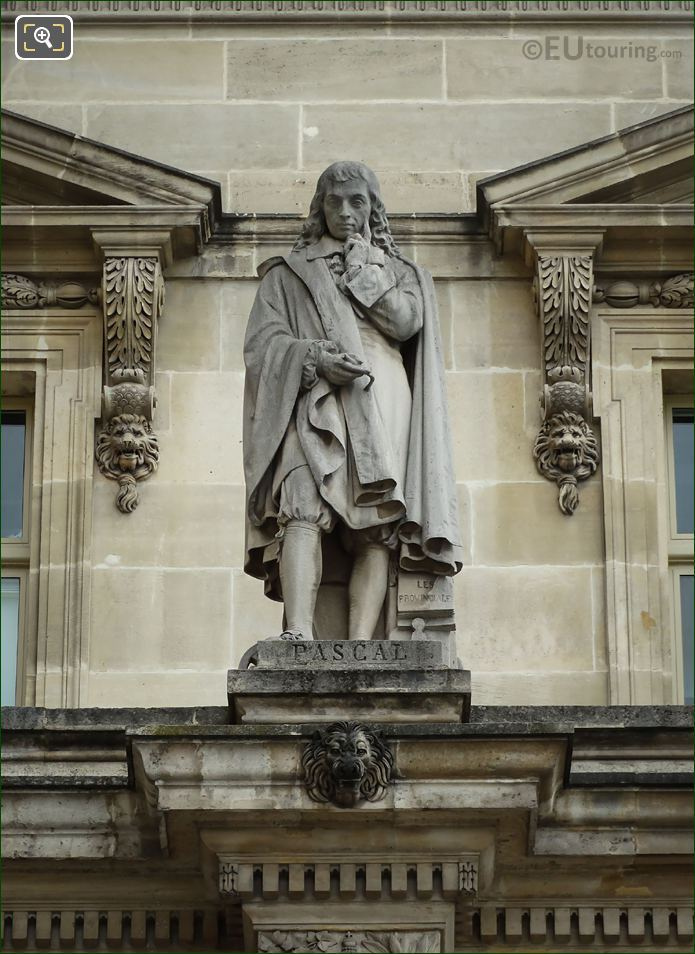 Blaise Pascal Statue Sculpted By Francois Lanno