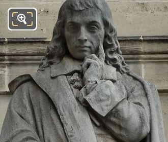 Blaise Pascal Statue On Aile En Retour Turgot