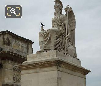 La France Victorieuse Statue On Stone Pedestal