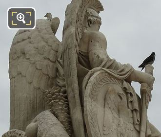 Wings On La France Victorieuse Statue