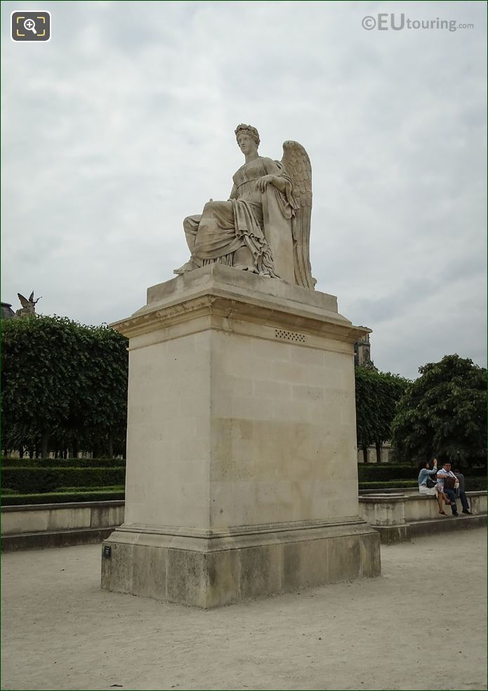 The History Statue On Stone Pedestal