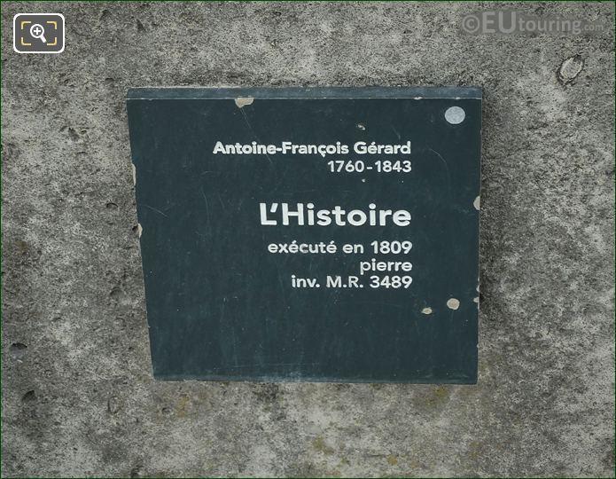 Information Plaque On l Histoire Statue