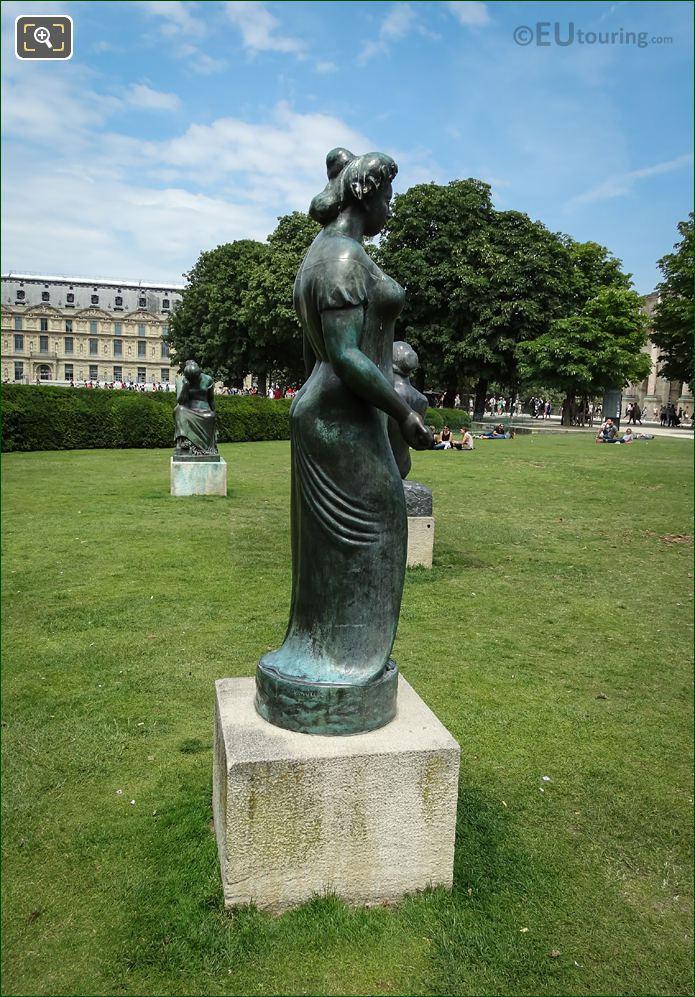 Side View Of Roman Goddess Pomone Drapee Statue