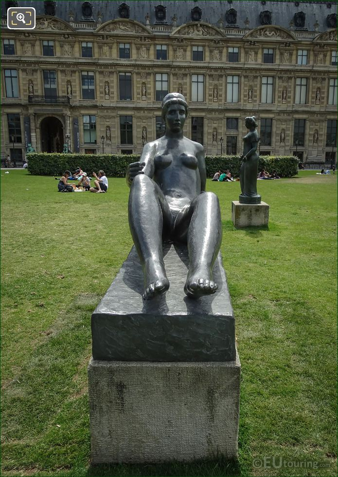 Bronze Statue La Jeune Fille Allongee By Maillol