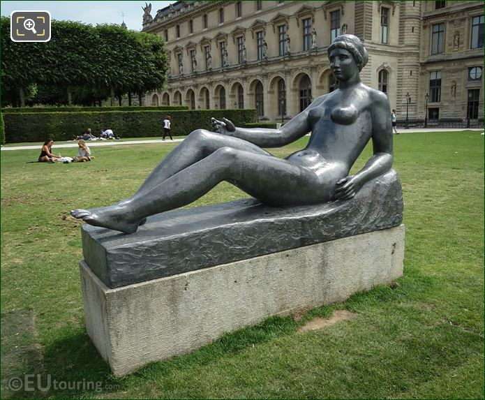 La Jeune Fille Allongee Statue By Aristide Maillol