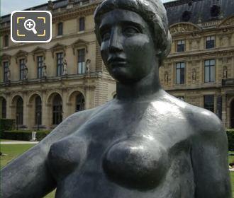 Close Up Of La Jeune Fille Allongee Statue