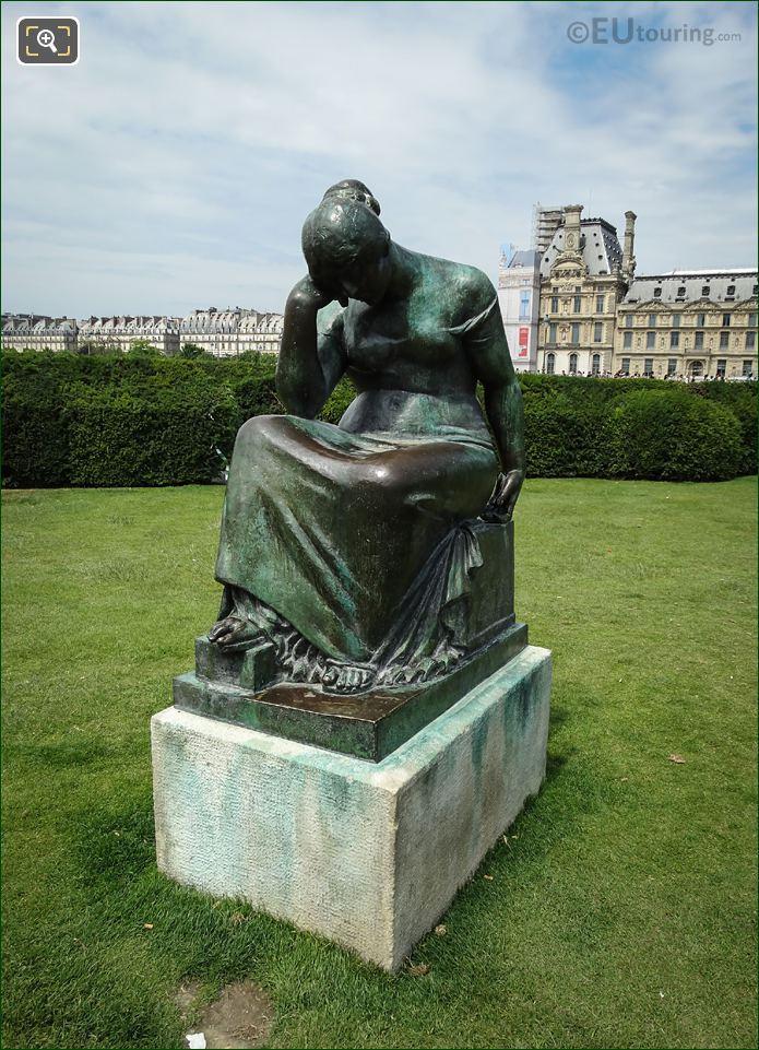 Jardin Du Carrousel Bronze Statue Douleur