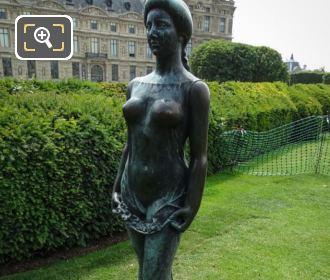 Aristide Maillol Statue Flore Jardin Du Carrousel