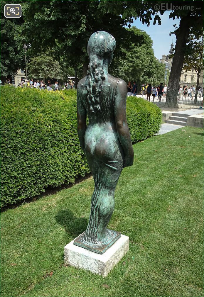 Back Of Maillol Statue Flore