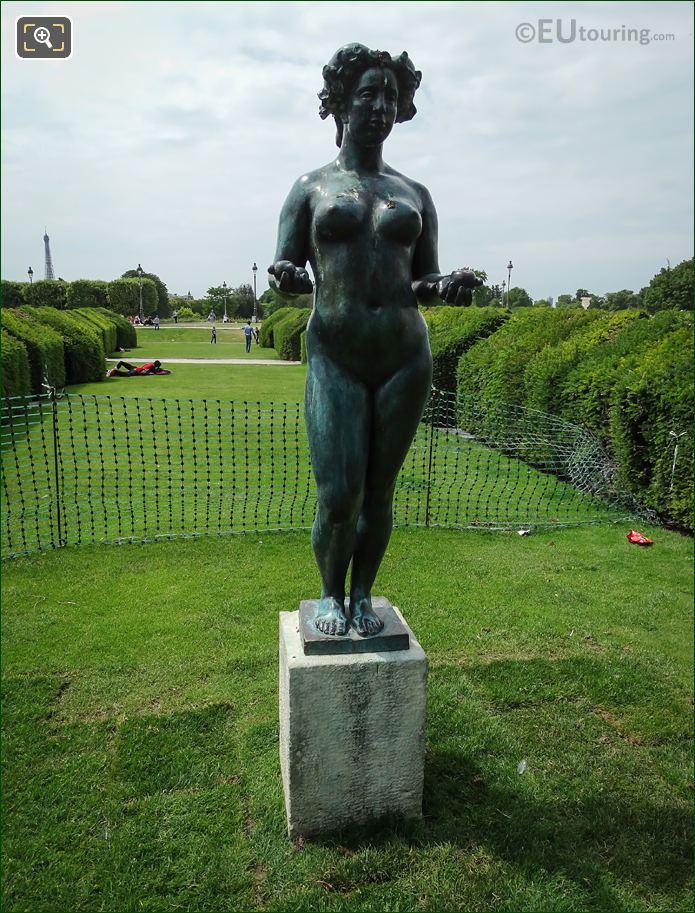 Front Of Pomone Statue In Paris