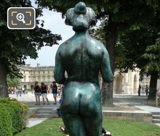 Back Of Pomone Statue Jardin Du Carrousel