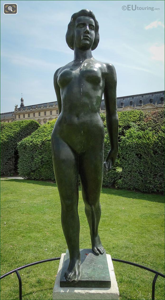 Front Of Ile De France Statue